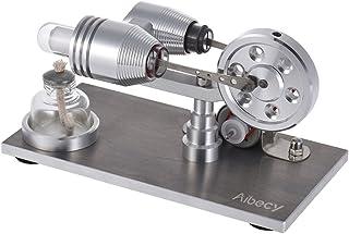 Aibecy-Mini Motor Stirling de aire caliente generador de energía eléctrica máquina con LED luz Juguete Educativo para experimentación física