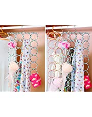 Kuber Industries™ Single Piece 28 Rings Folding Rope Hanger for Scarf, Belts, Shawls, Ties and More (Random Color) -KI43