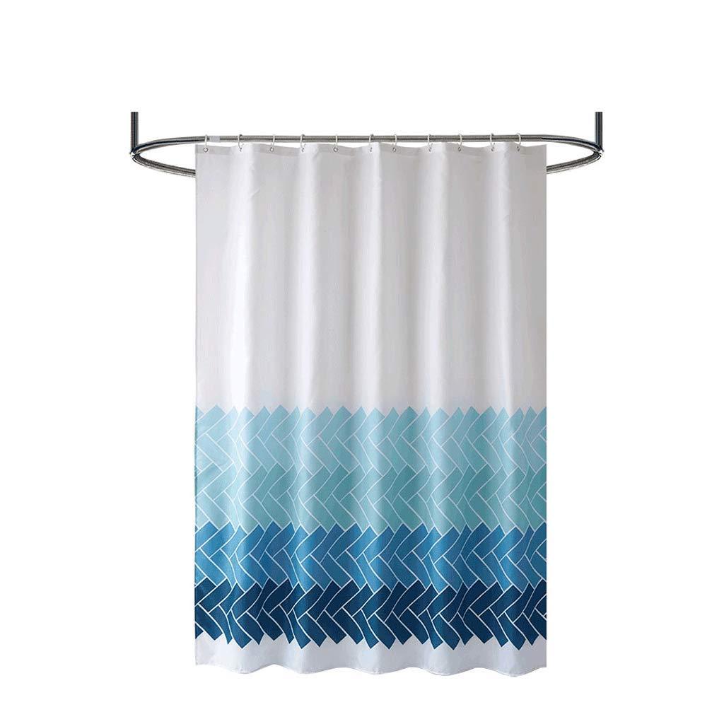 四半期沿って置換X-風呂カーテン カーテンポリエステル無料パンチング防水増粘剤カビ耐性浴室の仕切りカーテンハンギングカーテンシャワー (Size : 280x200cm)