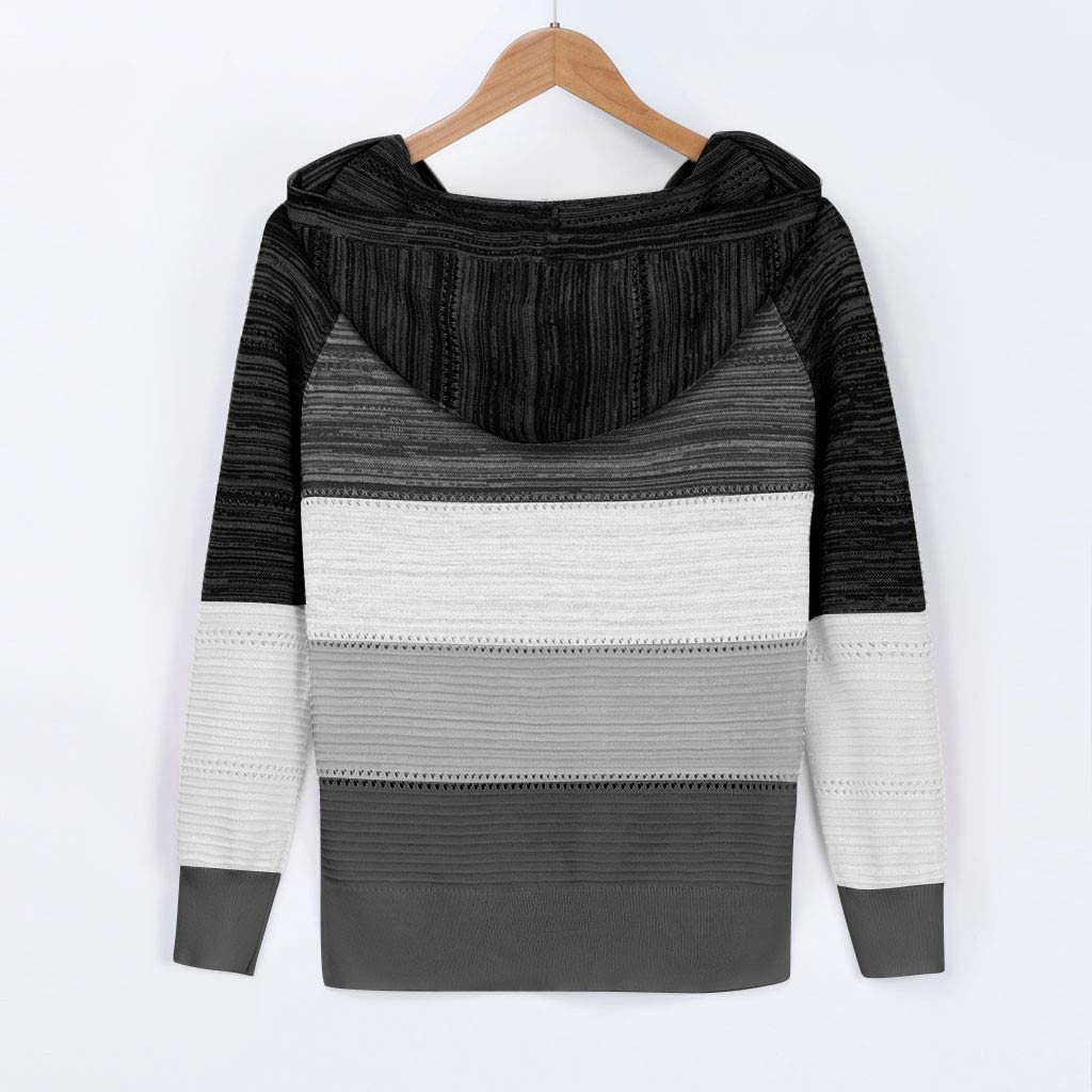 Women Long Sleeve Tshirt,Women's Hoodies Tops Tie Dye Printed Sweatshirt Long Sleeve Pullover Loose Drawstring Hooded with Pocket Black