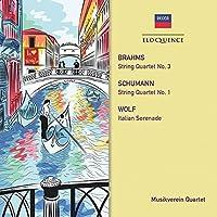 Brahms: String Quartet No. 3. Schumann by MUSIKVEREIN QUARTET