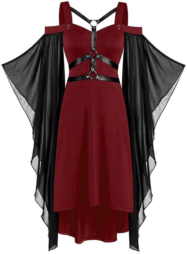 Memphis Mall Women Gothic Plus Size Cool Criss Cross 67% OFF of fixed price Sl Insert Butterfly Lace
