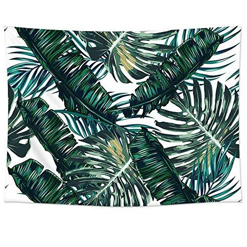 QEES Arazzo con Foglie di Palma Tropicale, da Appendere alla Parete, Coperta per Divano, Tessuto in Poliestere Leggero, Decorazione per Casa, Coperta da Spiaggia, GT06