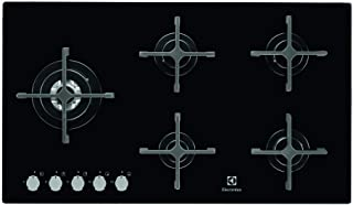 Electrolux 90CM 5 Burner Gas on Glass Hob, Black, EGW9353NOK