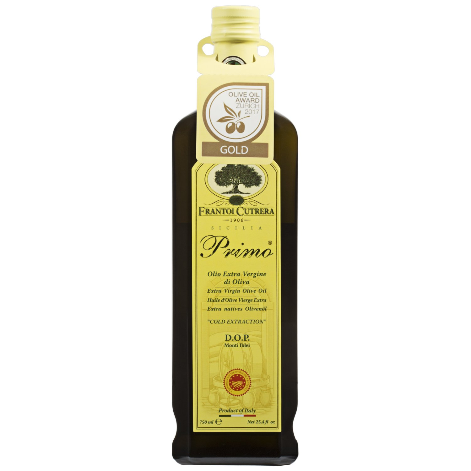 Frantoi Cutrera - Primo Ranking TOP4 Credence Cold Virgin Olive Oil Extra Extracted