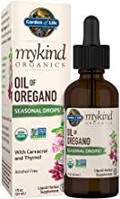 Garden of Life mykind Organics Oil of Oregano Seasonal Drops 1 fl oz (30 mL) Liquid, Concentrated Support 60% Carvacrol/2% Thymol, Alcohol Free, Organic Non-GMO Vegan & Gluten Free Herbal Supplements