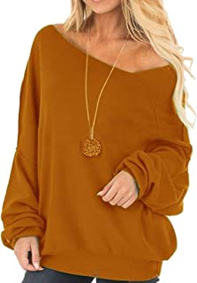 Comfy Women's Long Sleeve Sloping Shoulder Blouse Plus Size Shirt