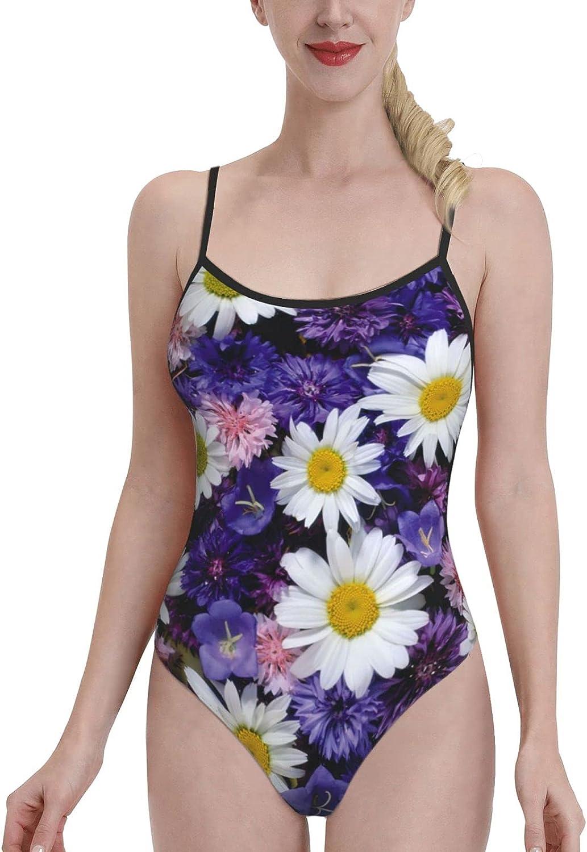 Women's One-Piece Swimsuit Sports Fashion-Purple Flo-Wer
