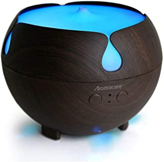 Essential Oil Diffuser,Aromacare Aromatherapy Diffusers For Essential Oils For Large Room Bedroom Office Waterless Auto Shut-Off Dark Wood Grain Last 12 hours