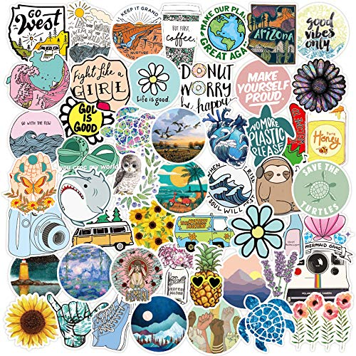 100 Pack Vsco Stickers Cute Stickers Waterproof 100% Vinyl Stickers I Vsco Girls Stuff, Aesthetic Stickers, Vsco Stickers for Water Bottle, Laptop Stickers, Cellphone(E138)