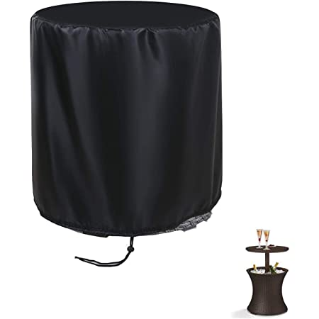 POMER Patio Bar Table Cover Round 21x23inch - Outdoor Pool Cooler Table Cover for 7.5 Gallon Beer and Wine Cooler Table