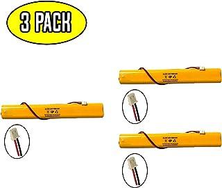 (3 Pack) Exit Sign Emergency Light NiCad Battery Replacement ELBB003 Lithonia ELB-B003 Unitech BAT9.6V700 9.6v 900mAh ELB-B004 ELBB004 OSI OSA228 DANTONA CUSTOM-306-U BBAT0044A BAA-96 BBAT0043A
