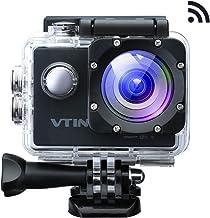 VicTsing Eypro 1S Cámara Deportiva Sumergible, 1080p Vídeo y 12MP Imagen, WiFi para Compartir con Amigos, Accesorios Gratís, Deprotes al Aire Libres