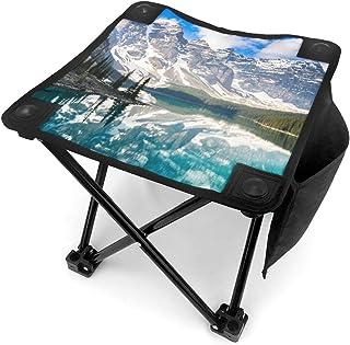 アウトドア 椅子 カナダ、ロッキー山脈のモレーン湖 アウトドア 椅子 ピクニック 釣り コンパクト イス 持ち運び キャンプ用軽量 収納バッグ付き 折りたたみチェア レジャー 背もたれなし