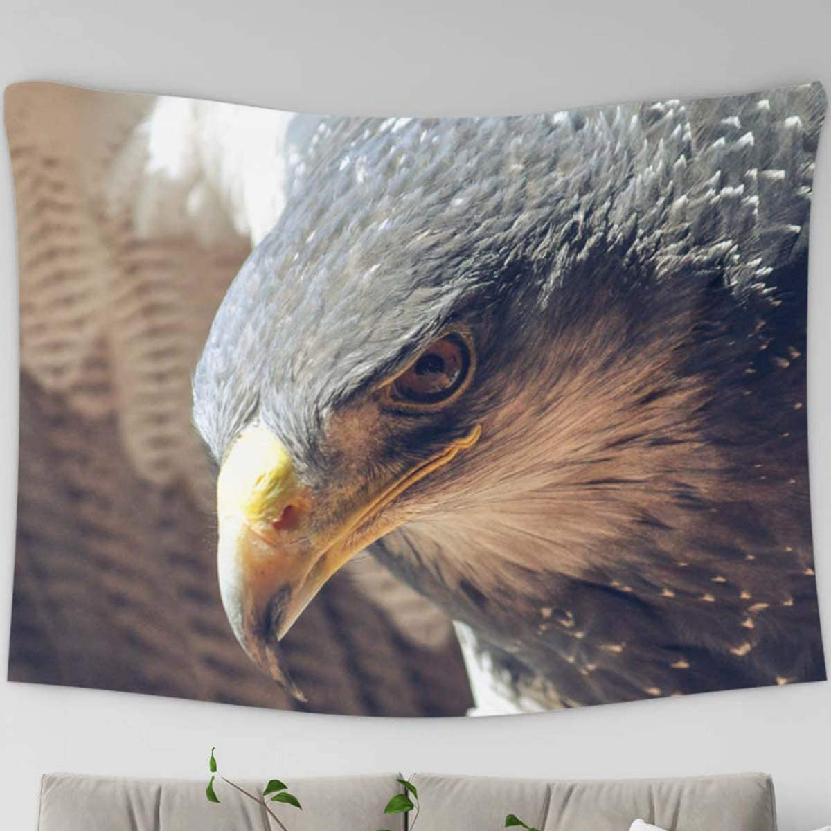 Amazon Com Loussiesd Eagle Tapestry Hippie Tapestry Wall Hanging Home Decor Animal Theme Eagle For Bedroom Kids Room Living Room Dorm Office Polyester Fabric Needles Included Home Kitchen