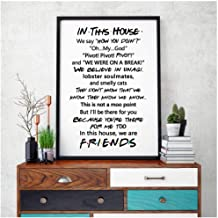 in this house friends canvas