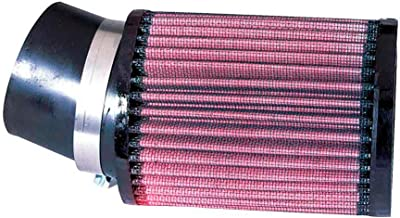 K&N RU-1770 Universal Clamp-On Air Filter: Round Straight; 2.438 in (62 mm) Flange ID; 6 in (152 mm) Height; 3.75 in (95 mm) Base; 3.75 in (95 mm) Top