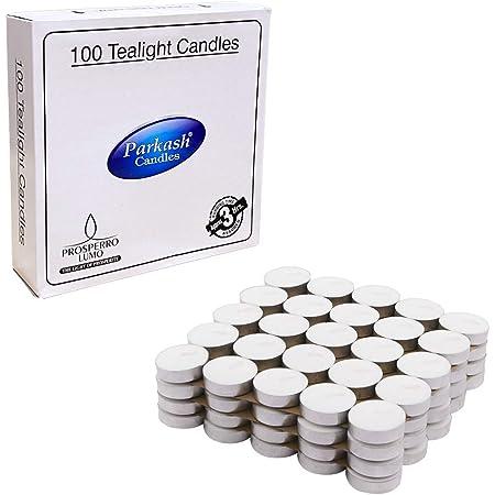 PROSPERRO LUMO Parrafin Wax Candles Tea Light, Set of 100, Unscented