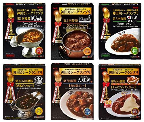 S&B 神田カレー グランプリ レトルト 6種類セット