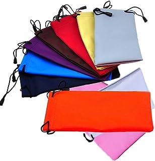 Una confezione da 10 sacchetti con coulisse per occhiali da sole, occhiali da sole, cellulare, gadget elettronici (colore ...