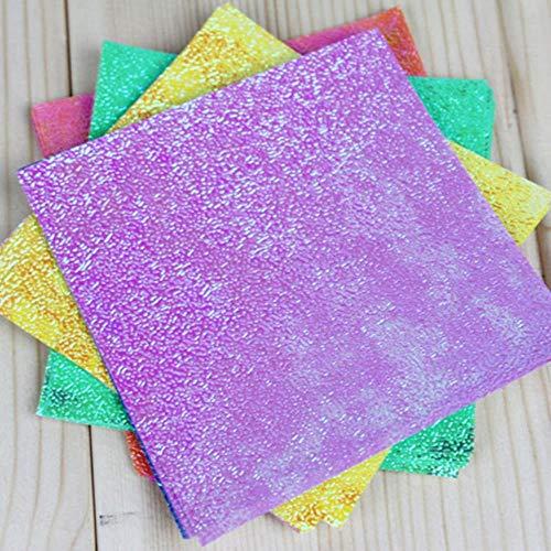 50 stks/set Vierkante origami Papier enkelzijdig glanzend Gevouwen effen kleur kinderen handgemaakte DIY scrapbooking ambachtelijke decoratie, 15x15 cm 50 stks