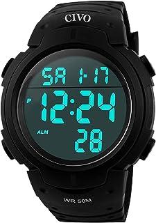comprar comparacion CIVO Reloj deportivo informal para hombr, multifuncional, militar, Resistente al agua, diseñ, LCD Back Light Relojes...