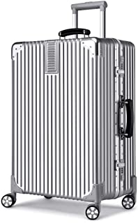 WHPSTZ Trolley Caster Thick Aluminum Rod Trunk Retro Right Angle 20 Inches Trolley case (Color : Silver)