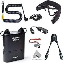 Fomito Godox PB960 Portable Extended Flash Power Battery Pack Kit Dual Output for Nikon SB910, SB900, SB800, SB28 Euro, SB28DX, for AD360II AD360 AD180, for Smartphone Black