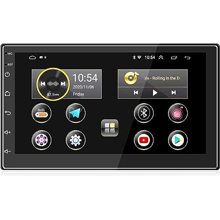 ANKEWAY 2021 Nuevo 7 Pulgadas [2G+16G] Android 10,1 Radio Coche 2 DIN con HiFi+WiFi+Bluetooth+RDS+FM+Navegación GPS, Sistema Multimedia de Internet para Coche con Pantalla Táctil HD de 1080P(12V)