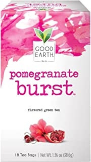 Good Earth Green Tea, Pomegranate Burst, 18 Count Tea Bags (Pack of 6) (Packaging May Vary)
