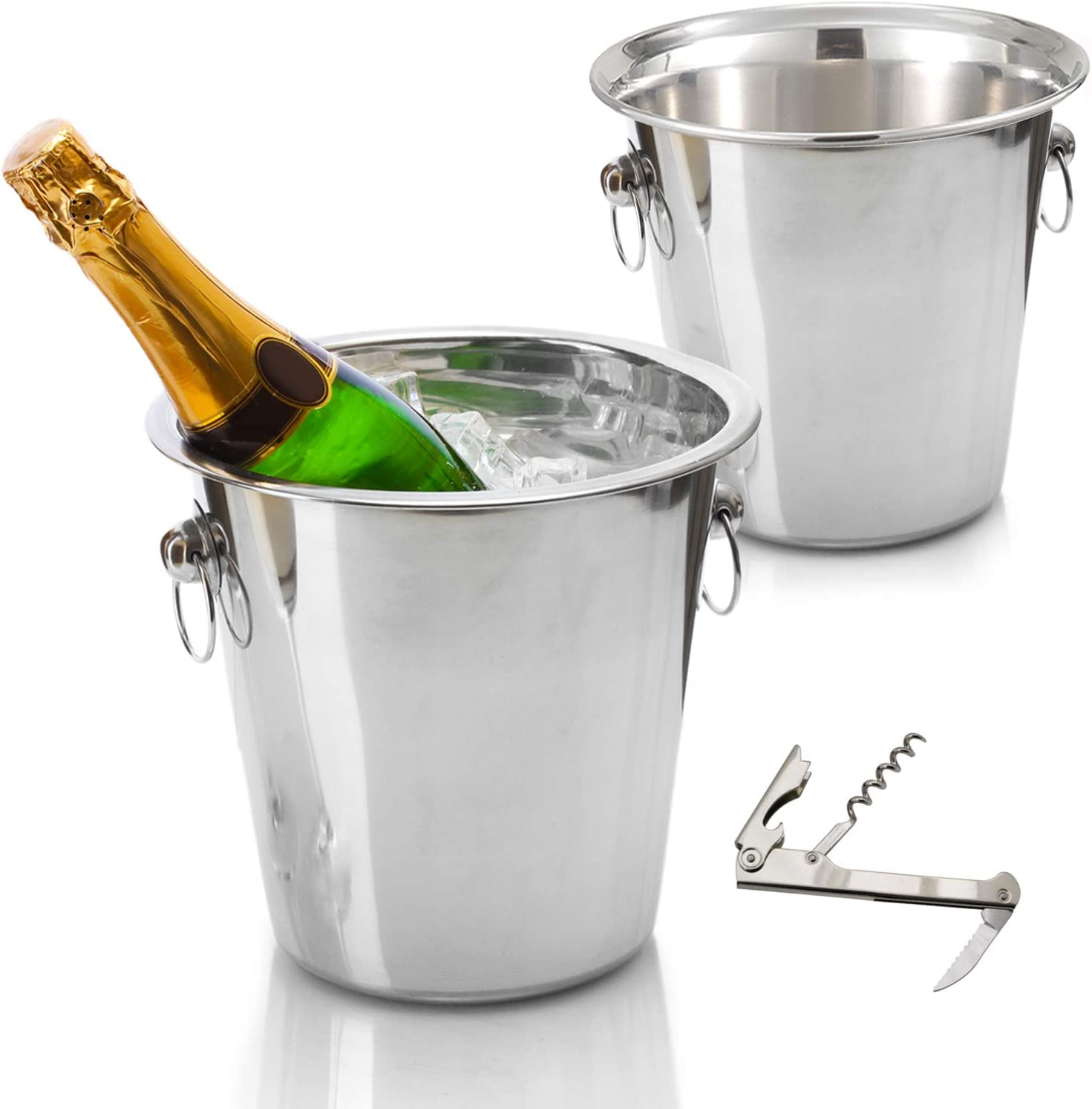 New item Tiger Chef Wine Bucket Gorgeous Set Tub: In - Beverage Champagne