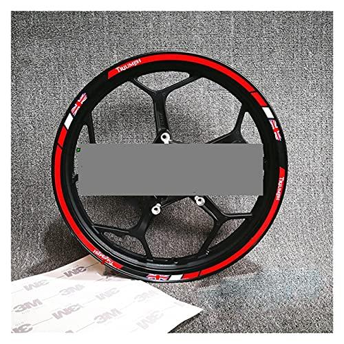 Decal de rayas de llanta de rueda Aplicable al cubo de rueda impermeable modificado para el triunfo de la rueda de la rueda reflectante a prueba de agua del triunfo para la rueda de 17 pulgadas Raya d
