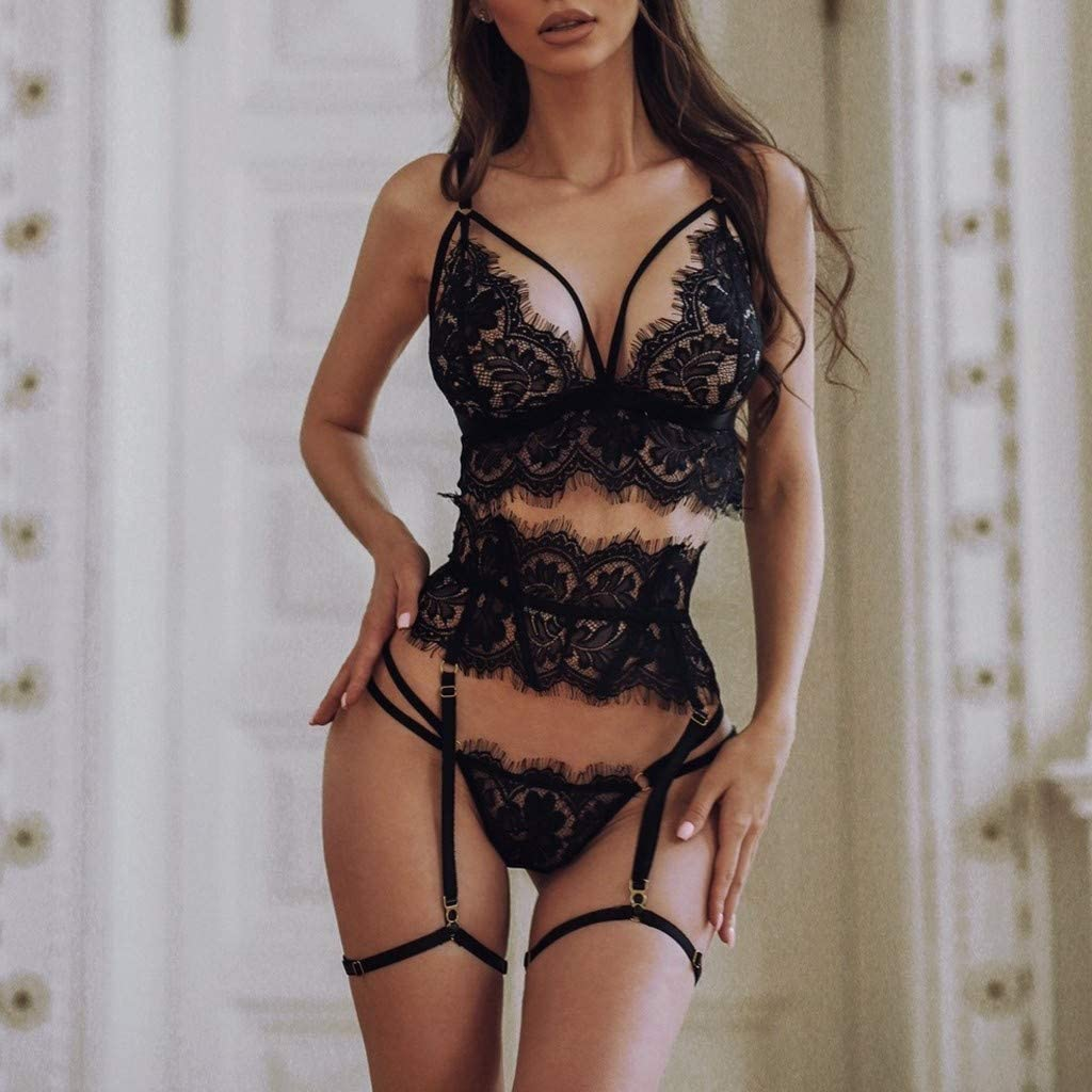 xoxing Women's Lingerie Plus Size Halter Sleepwear Intimates Sexy Underwear Nightwear Pajamas Chemise Tank Tops(L)