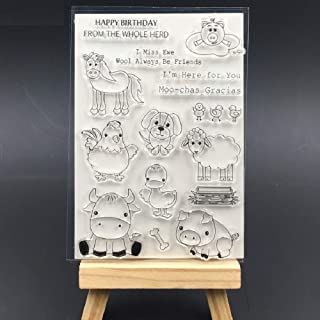 Animal Farm Transparent Clear Silicone Stamp Seal for DIY Scrapbooking Photo Album Decorative Card Making Decoration Clear Stamp