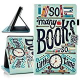 Dteck Case for Amazon Kindle Fire HD 8 Tablet (8th & 7th & 6th Generation - 2019/2018/2017/2016) - Slim Flip Smart Stand Case Magnetic Leather Wallet Cute Cover with Auto Sleep Wake/Stylus Pen-Books
