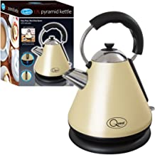 Quest 34500 Fast Boil Pyramid Shape Cordless Kettle, 2200 W, 1.7 liters, Cream