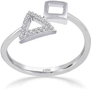 Malabar Gold and Diamonds 950 Platinum Platinum and Diamond Ring for Women