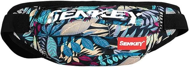 SOPHICATE Man's Waist Packs,Fashion Doodling Hip hop Bags,Fanny Pack with Adjustable Belt,2ways Use Shoulder Bag,Sport Bum Bag Hip Sacks Travel Running Festival Hiking Rave