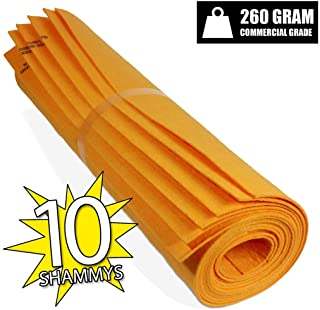 German Made Shammy. DRYING TOWEL and CLEANING RAGS great KITCHEN SHAMMY (10, Orange (Large)