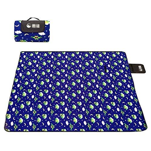 LXLA- Épaissir étanche à l'eau Camping pique-nique Tapis pliable Tapis sauvage Tissu Pad Couverture portable Flocage Coton 200 * 150 cm Numéro Applicable: 3-5 personnes ( Couleur : Style 1 )