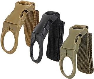 Dolity Mixed Color Molle Webbing Strap Clip Drink Water Bottle Holder Belt Hanger Tool Set of 3