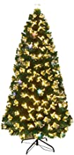 Fiber Optic Christmas Tree 1.2/1.5/1.8M Deluxe Christmas Tree Decoration Package, Metal Bracket, Stable and Easy to Instal...