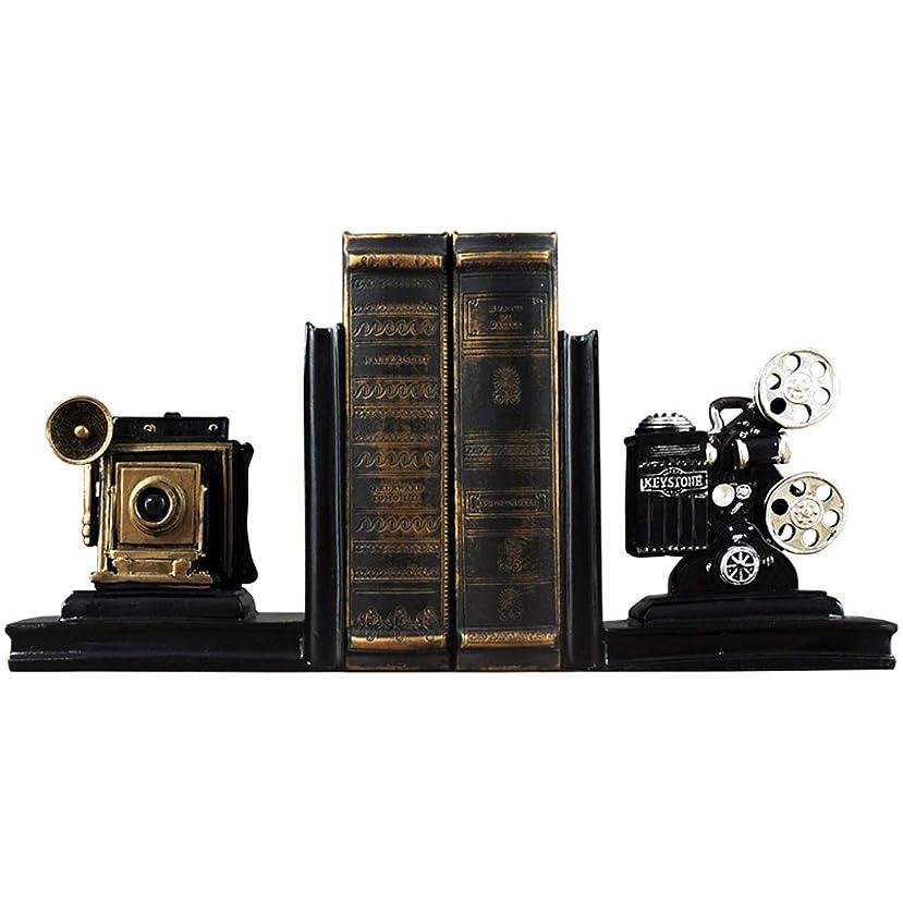 暴露するわかりやすいサーバHF-ZEN クリエイティブ?フィルムプロジェクターブックエンドデスクスタディブックスタンドクリップホームデコレーションオーナメント20.5x12x16cm本棚 書棚 本棚 卓上 オブジェ ラック