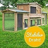 zooprinz Kaninchenstall 2 XXL Hasenkäfig - DR. HASE - Stall für Außenbereich (für Kleintiere: Hasen, Kaninchen, Meerschweinchen usw.)