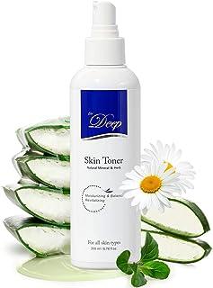 Dr.Deep Skin Toner(6.76 fl.oz) | Mineral Face Toner | Alcohol Free Toner for Face | Korean Toner Spray for Face | Aloe Ver...