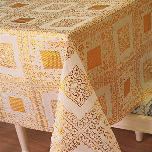 YOUYUANF Wachstuch Tischdecke, waschbare Gartentischdecke, Wachstischdecke, PVC Kunststofftischdecke, wasserdicht und abwischbar90x137 cm