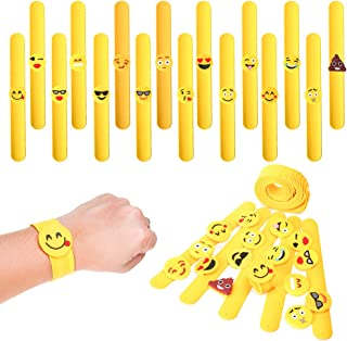 PROLOSO Slap Bracelets Slap Wristband Silicone Snap Bracelet Kids Slap Toy Bulk Party Favors 16 Pcs