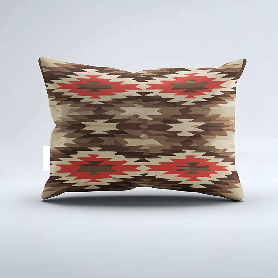 Zippered Pillow Covers Pillowcases One Side 20x26 Inch Brown/Terra Cotta Navajo Pattern Pillow Pillow Cases Cushion Cover for Home Sofa Bedding