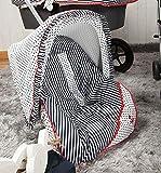 Babyline Marinero - Colchoneta para silla grupo 0, color azul marino/rojo