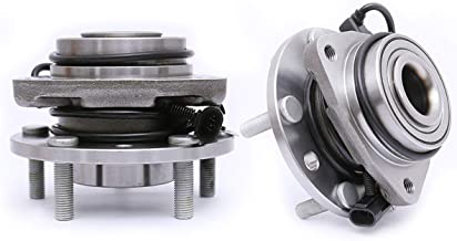 FKG 513124 (4WD Only) Front Wheel Bearing Hub Assembly for 1997-2005 Chevy Blazer, 1997-2004 Chevy S10, 1997-2005 GMC Jimmy, 1997-2001 Oldsmobile Bravada, 5 Lugs W/ABS, Set of 2